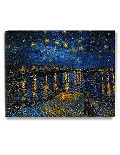 DECORARTS - Starry Night Over The Rhone, Vincent Van Gogh Art Reproduction. Giclee Canvas Prints Wall Art for Home Decor 30x24 24 X 30 Giclee Canvas