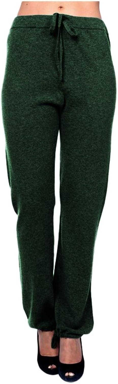 Parisbonbon Women's 100% Cashmere String Pants