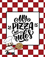 Record & Rank Restaurant Reviews, Expert Pizza Foodie, Prompted Pages, Remembering Your Favorite Slice, Gift, Log Book