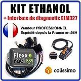 KIT Ethanol Flex Fuel - E85 - Bioethanol - 4 cylindres + Interface de Diagnostic ELM327 USB. Compatible avec Peugeot, Citroën, BMW, Renault, Audi, VW, … (Connecteurs Bosch EV1)