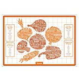 Tovolo Silicone Veggie Roasting Mat, Non-Stick, Printed with Roasting Times & Seasonings, Dishwasher...