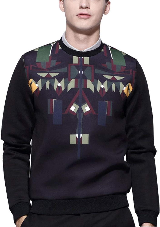 Sweatshirt_Crewneck Herren Ultimate Cotton Heavyweight Crewneck Heavy Blend Geometrisches Muster Gedruckt S M L XL 2XL 3XL
