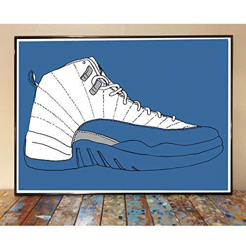 Letmedrawyourpicture Air Jordan 12 French Blue Sneaker Art Print