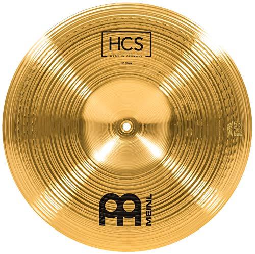Meinl Cymbals HCS 16 Zoll (40,64cm) China Becken für Schlagzeug – Messing, traditionelles Finish (HCS16CH)