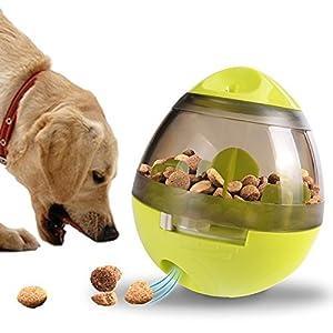 Qunlei jouet recherche de nourriture pour chien–Distributeur de nourriture jouet Boule pour petite Medium Chiens de grande taille durable à mâcher Boule–L'Ennui puzzle Toys Nourriture lente Feeder Gobelet IQ Treat Ball–Facile à nettoyer