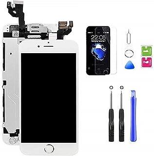 Hoonyer Pantalla para iPhone 6 Plus Pantalla táctil LCD Pantalla digitalizadora Herramientas de reparación (con botón de I...