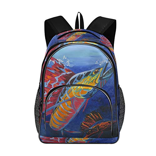 Schule lässig Umhängetasche Multifunktions-Tagesrucksack Rucksack Bookbag Sailfish