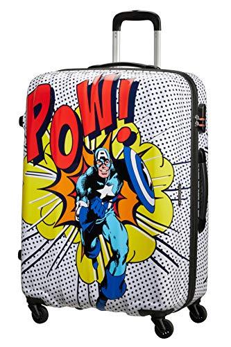 American Tourister Marvel Legends - Spinner L, Maleta, 75 cm, 88 L, Multicolor (Captain America Pop Art)