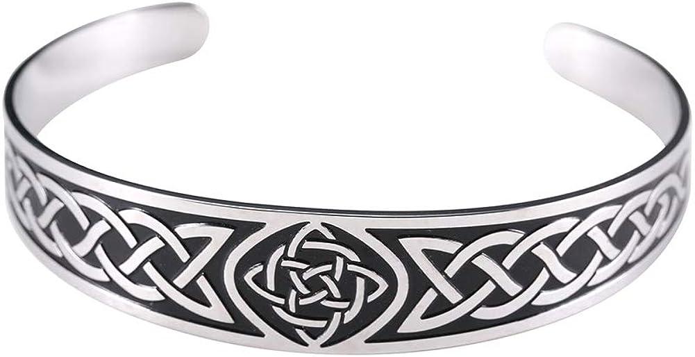 LUSSO List price Celtic Knot Bracelet mens Special sale item Stai bracelet bangle cuff celtic