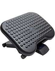 HUANUO Adjustable Footrest Under Desk - Ergonomic Foot Rest with 3 Height Position - 30 Degree Tilt Angle Adjustment for Home, Office, Non-Skid Massage Surface Texture Improves Posture and Circulation