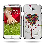 CoverON Slim Hard Case for LG Optimus L70 Exceed 2 Realm Pulse Ultimate 2 L41C (Butterfly Heart)