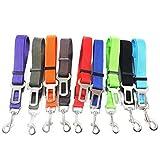 sierra guinzaglio di sicurezza auto per cani di piccola e media taglia, regolabile in nylon (nero)