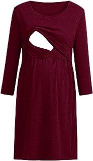 9aa1e02f8d6 Fainosmny Women Dress Pregnancy Pullover Shirt Christmas Blouse  Breastfeeding Tops Maternity Dress Maternity Baby Sundress
