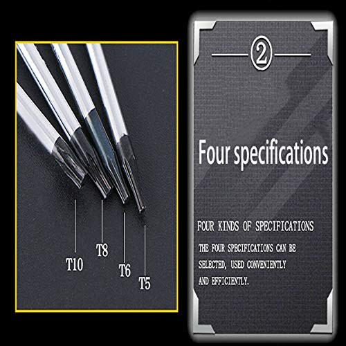 Buspoll Torx screwdriver set with T5 T6 T8 T10 star magnetic screwdriver, suitable for mobile phone/Mac/computer repair