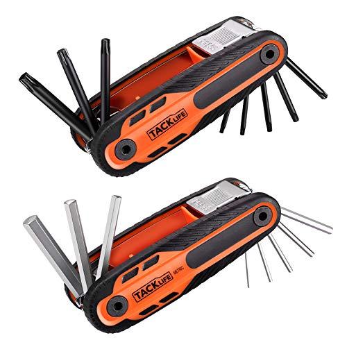 Llaves Allen, TACKLIFE Juego de llaves hexagonales 16 Pcs, 8 Métrico, 8 Torx, para Reparar Automóviles, Muebles, Equipos, etc -HAK5B
