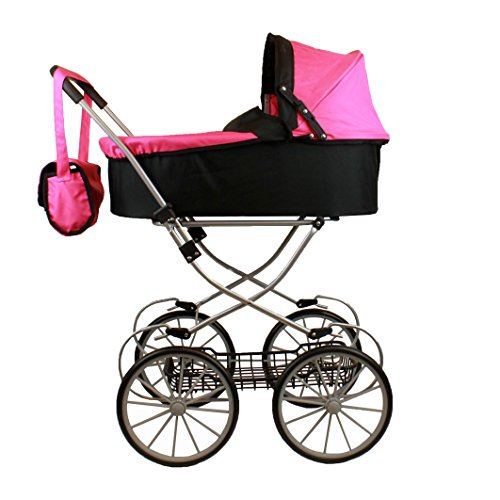 Mommy and Me Deluxe Doll Pram My Sweet Princess Doll Stroller with Basket, and Free Carriage Bag, 32