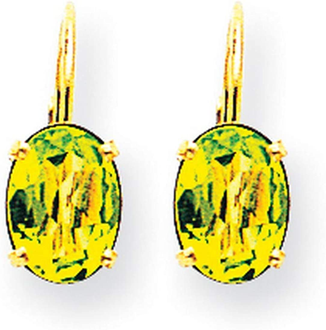 Peridot Leverback Earrings in 14k Limited price sale Yellow Real discount Gold