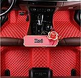 CXYYJGY - Alfombrillas de coche hechas a medida para Alfa Romeo Giulia 2017-2019, piel sintética, todos los tiempos, impermeable, 3D, con revestimiento antideslizamiento mate