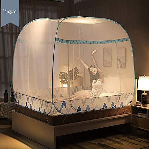 MMRLY Pop Up Mosquito Net Carpa, al Aire Libre Mongolian Yurt Puerta...