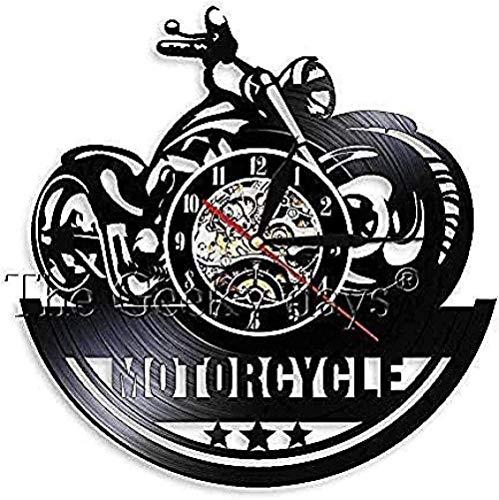 Taller de Motocicletas Arte de Pared Decoración de Club de Moteros Reloj de Motocicleta Reloj @ out