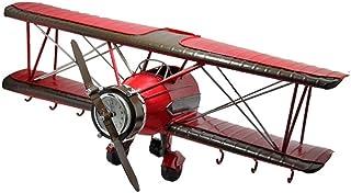 American Retro modelo de avión colgar de la pared Sala de decoración de la pared del gancho decoración de la pared de decoración de la barra Shop niños con 6 Llave Escudo Ganchos, 42 * 16 * 16cm