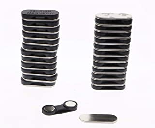 Magnetics Name Badge Magnets -, Strong Fastener with Adhesive on Front Plate,Strength Neodymium Magnets 20-Sets
