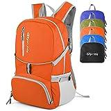 GlymnisFaltbarer Rucksack 30L Wanderrucksack multifunktionaler Tagesrucksack Ultraleicht Packable für Outdoor Sport Wandern Reisen Damen Herren und Kinder (Orange)