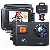 【新型4K/60FPS】APEMAN A87 アクションカメラ 4K画質 2000万高画素 2インチタッチパネル 光学8倍ズームレンズ WIFI搭載 リモコン付き 40M防水 水中カメラ 手ブレ補正 HDMI出力 スポーツカメラ アクセサリー多数 バイク/自転車/車に取り付け可能 1050mAh大容量バッテリー2個 ウェアラブルカメラ・アクションカム