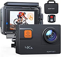 APEMAN ?Upgrade? A87 Action Camera Touch Screen 4K 60FPS 20MP Wi-Fi Sports Cam 8X Zoom EIS 40M Waterproof Underwater Camcoder with 22 Accessories and Carring Case, for Yutube/Vlog Videos