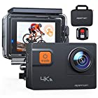 APEMAN A87 Action Camera 4K 60FPS Touch Screen Sports Camera 2.4G Remote Control 8X Zoom EIS 40M Waterproof Underwater Camcoder with Accessories and Carring Case