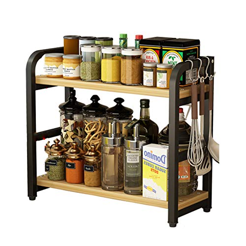 Scaffale da cucina Spice Spice DAQUAN DAQUAN CONDIPO SPICE SCATOLA PIANO MULTI-Layer Scacco da stoccaggio non perforato black1-40CM