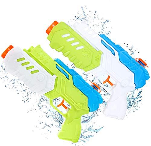 Ucradle Giocattolo Pistola Ad Acqua per Bambini (Confezione da 2) Bianco + Verde