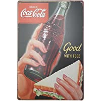 MARQUISE & LOREAN | Coca Cola Placas Decorativas Pared Cocacola Chapas Vintage Metálicas Cocacola Elígeme (20 x 30 cm, con Sandwich)