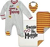 Harry Potter Baby Layette Gift Set Footies Blanket Bib Burp...