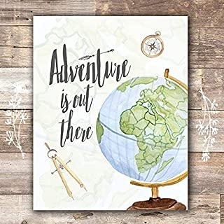 Adventure Is Out There Art Print - Unframed - 8x10