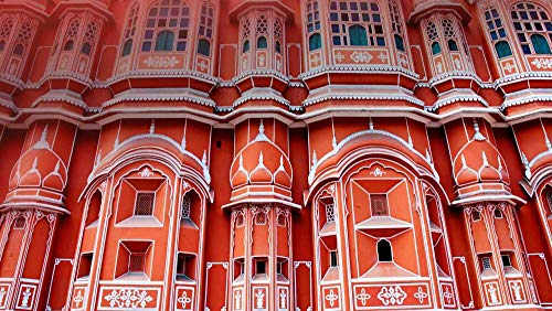 Puzzel 35 Stukjes Unieke Cadeaus Voor Diy Educatief Speelgoed, Wind Palace, Jaipur, India (15 x 10 cm)