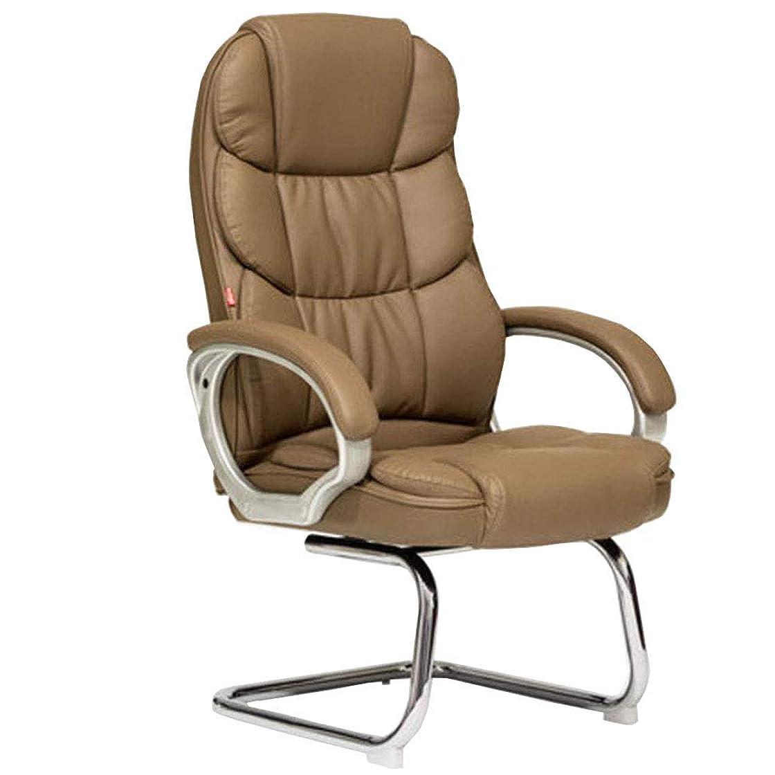 オーロック硬化する軽くコンピュータチェアKgbowコンピュータチェア極細繊維レザー表面を延長する生命はホームアーチデザインスチール+ PU、PPチェア 椅子 (Color : Brown)