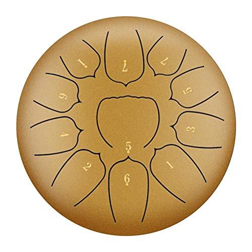ASDFGH 指サックヨガ瞑想では10インチ11ノートスチール舌ドラムハンドTankdrumでマレット注スティックドラムキットをリラックス (Size : D)