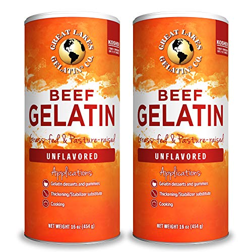 Great Lakes Unflavored Gelatin, Kosher, 16 Ounce Can Single Pack