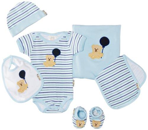 Playshoes Unisex - Baby Bekleidungsset, Geschenk-Set Für Neugeborenee, 6-Teilig, Blau, 0-6 Monate