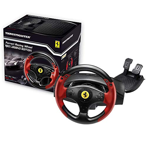 Thrustmaster Ferrari Racing Wheel Red Legend Edition (Volante Incl. 2-Pedalset, PS3/ PC) - PlayStation 3