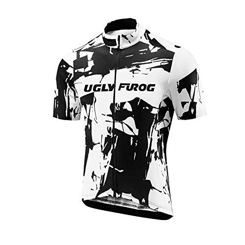 Uglyfrog Heren Fietsen Kleding Jersey Korte Mouwen Fietsshirt + Koersbroek Sets Zomer Ademend Sneldrogend DXML02