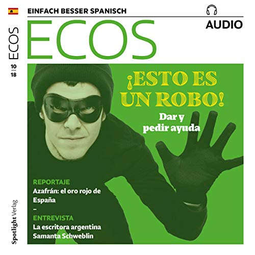 ECOS Audio - Sustracciones y robos 10/2018     Spanisch lernen Audio - Diebstahl und Raub              By:                                                                                                                                 Covadonga Jimenez                               Narrated by:                                                                                                                                 div.                      Length: 59 mins     Not rated yet     Overall 0.0