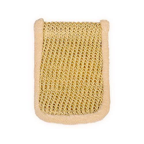 Massagehandschuh aus Bambus und natürlichem Sisal, Peeling-Handschuh mit ultraweichen Bambus- und Sisalfasern