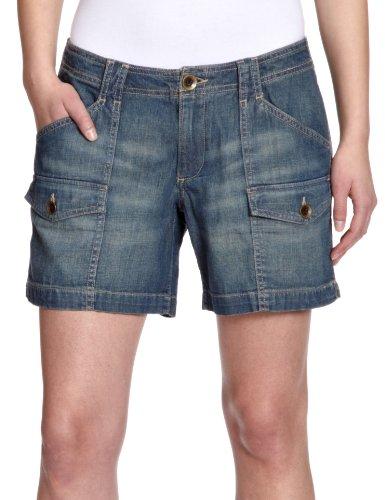 Eddie Bauer Damen Jeans Short Normaler Bund, 22217148, Gr. 38 (8), Blau (Denim)