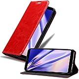Cadorabo Hülle für LG Q Stylus in Apfel ROT - Handyhülle mit Magnetverschluss, Standfunktion & Kartenfach - Hülle Cover Schutzhülle Etui Tasche Book Klapp Style