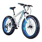 LYRWISHJD Outroad Mountain Bike 30 Speed Anti-Slip Bike 24 Inch Fat Tire Sand...