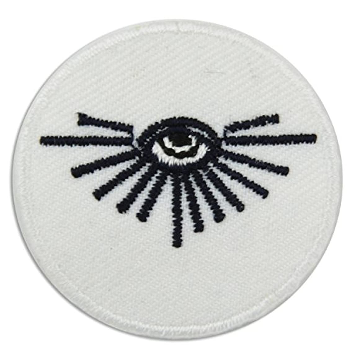 All Seeing Eye Black and Gold Embroidered Masonic Patch - 1 1/2