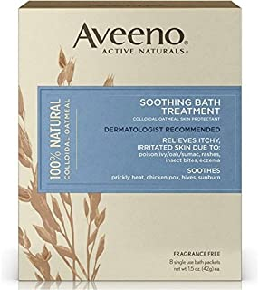 AVEENO Active Naturals Soothing Bath Treatment Packets 8 Each (Pack of 2)