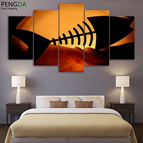 DJxqJ 5Leinwanddrucke Leinwand HD Moderne Gedruckte Bilder 5 Panel Fischgräte Wandkunst Poster